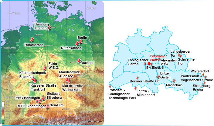 Map Germany - Project summary